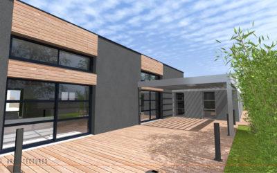 Construction d'une habitation individuelle avec piscine à CAUDRY