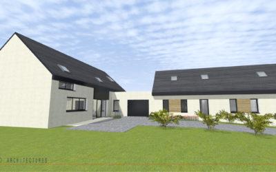 Transformation d'une grange en habitation et aménagement d'une longère à CATTENIERES
