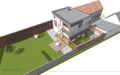 Transformation d'une grange en habitation individuelle à VERTAIN