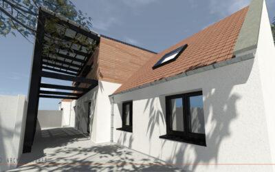 Extension par surélévation et rénovation d'une habitation individuelle à PROVILLE