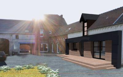 Transformation d'une grange en habitation à WAMBAIX